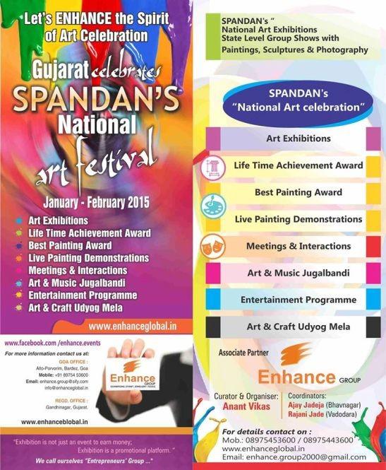 Gujarat Celebrates SPANDAN's National Art Festival 2015