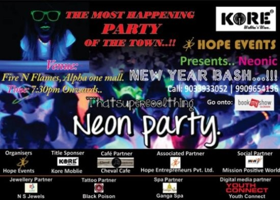 Hope Event Presents Neonic New Year Bash 2015