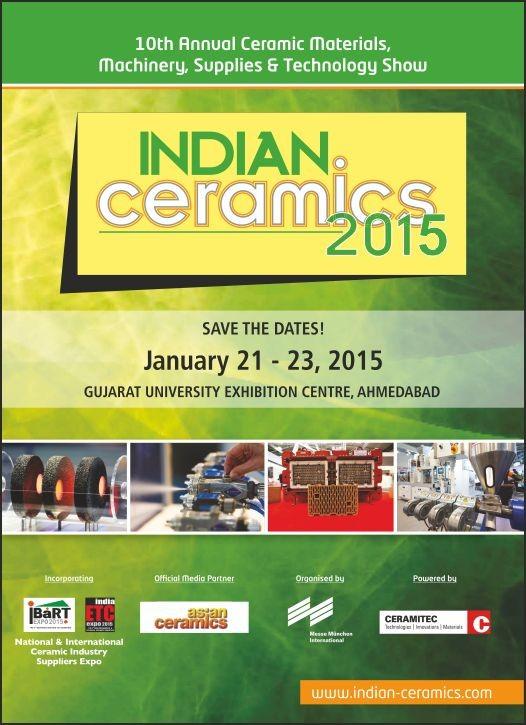 India Ceramics Expo 2015 in Ahmedabad at Gujarat University Exhibition Centre