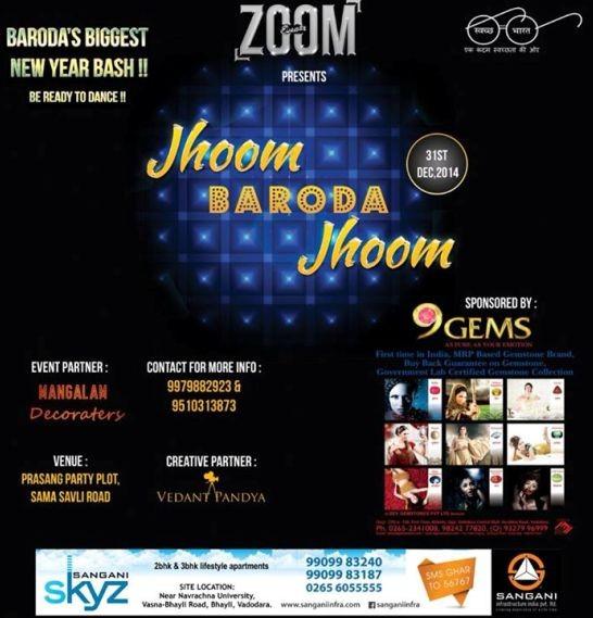Jhoom BARODA Jhoom New Year Bash Party 2015