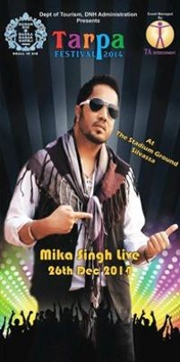 Mika Singh Live In Concert at Tarpa Festival 2014 at Stadium Ground in Silvassa.jpg