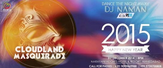 New Year's Eve Party - Cloudland Masquerade 2015