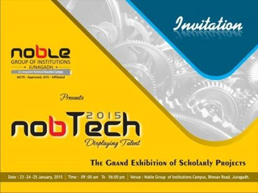 Noble Group of Institute Presents NOBTECH 2015 Exhibition in Junagadh on 23 to 25 January