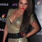 Rakhi Sawant Hot Cleavage Shows Pics in Short Dress at Stardust Award 2014