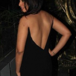 Richa Chadda in Black Backless Gown at her Birthday Celebration Event