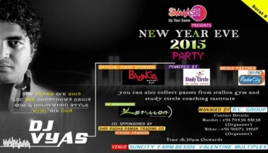 SMAAASH New Year Eve 2015 Party in Surat