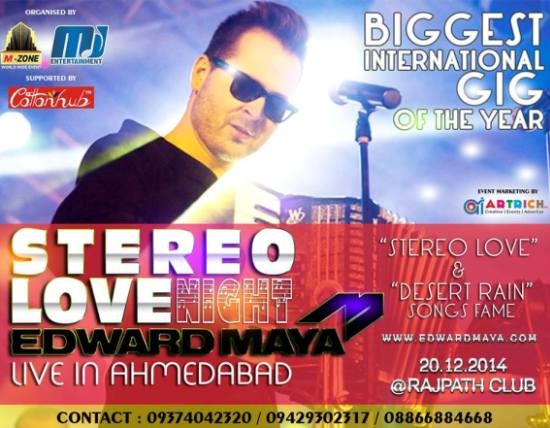 Stereo Love Night with Edward Maya Live in Concert in Ahmedabad