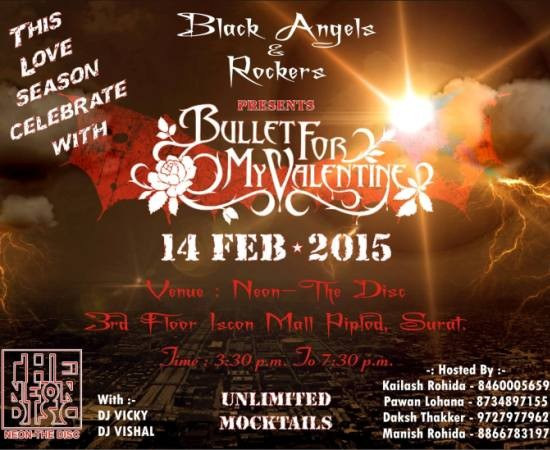 Bullet For My Valentine Day Party 2015
