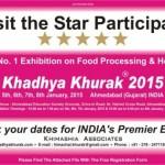Khadhya Khurak 2015 Exhibition in Ahmedabad Gujarat