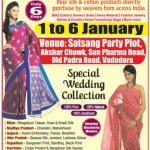 National Silk Expo 2015 Vadodara – Exhibition cum Sale on 1 to 6 January 2015
