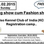 4th Dog Show Cum Fashion Show in Rajkot 2015 by Kennel Club of India (KCI) Gujarat