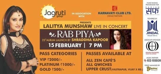 Shraddha Kapoor  RAB PIYA with Lalitya Munshaw Live in Concert Ahmedabad 2015