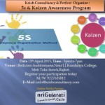5S & Kaizen Awareness Program in Rajkot at RedCross Auditorium on 5th April 2015