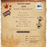 Alumni Meet 2015 Anand Gujarat by Anand Institute of Management on 29th March