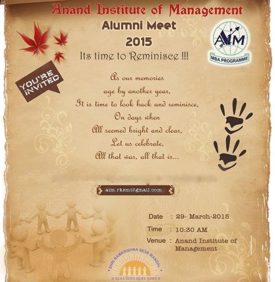 Alumni Meet 2015 Anand Gujarat