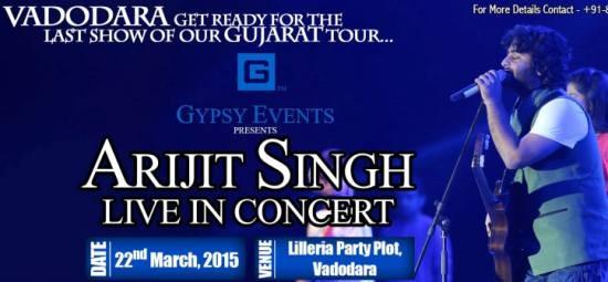 Arijit Singh Live Concert in Vadodara 2015