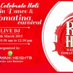 Celebrate Holi with Rain Dance & Tomatina Carnival 2015 at Narayani Heights Hotel & Resort Ahmedabad