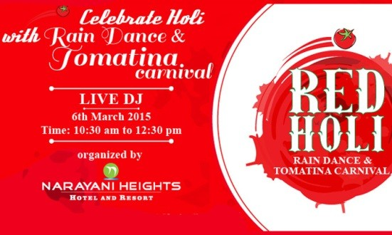 Celebrate Holi with Rain Dance  Tomatina Carnival