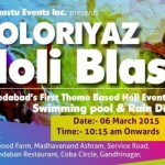 Tathaastu Event presents Coloriyaz Holi Blast with Rain Dance at Gandhinagar on 6 March 2015