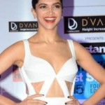 Deepika Padukone Hot Navel Shows Pics in White Dress at HT Mumbai's Most Stylish 2015