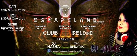 ESCAPELAND Club Reload with DJ ALICE at Vadodara 2015