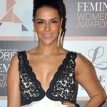 Neha Dhupia Hot Cleavage Pics in Evening Gown during L'Oreal Paris Femina Women's Award 2015