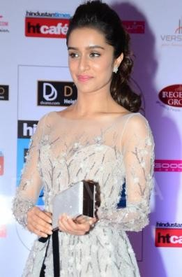 Shraddha Kapoor in Short One Piece Dress at HT Mumbai's Most Stylish 2015.jpg