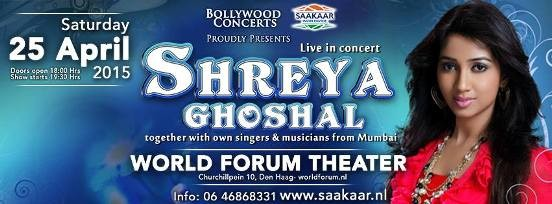 Shreya Ghosal in Den Haag NL - Shreya Ghosal Live in Concert at World Forum Theater Den Haag