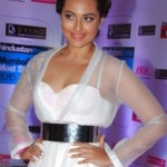 Sonakshi Sinha Hot Pics in Transparent Dress during HT Mumbai's Most Stylish 2015