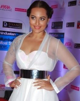 Sonakshi Sinha Hot Pics in Transparent Dress during HT Mumbai's Most Stylish 2015.jpg
