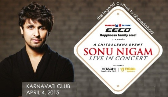 Sonu Nigam Live in Concert in Ahmedabad 2015
