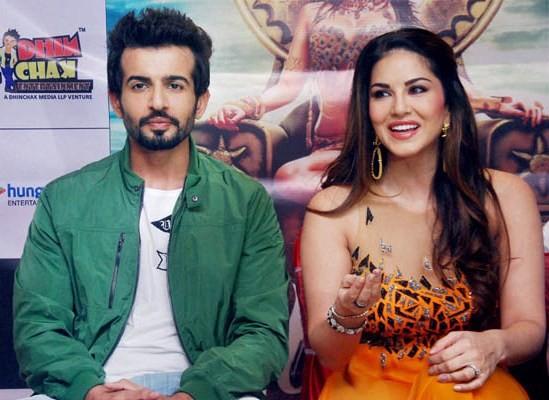 Sunny Leone and Jay Bhanushali in Surat