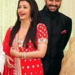 Aishwarya Rai in Red Lehenga at Kunal Kapoor & Naina Bachchan Wedding Reception