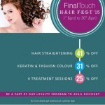Final Touch Hair Fest 2015 Ahmedabad – Special Discount Offer by Final Touch Hair & Beauty Salon
