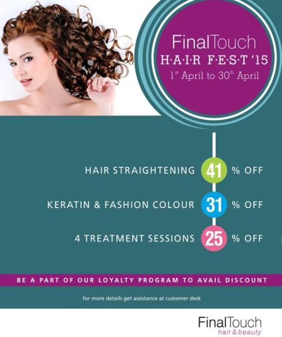 Final touch hair fest 2015 ahmedabad special discount for A final touch salon