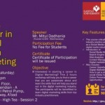 Free Seminar on Career in Digital Media Marketing at Ahmedabad 2015 by Ganpat University