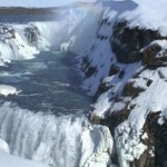 Gullfoss Waterfall at Southwest Iceland Europe – Known as Golden Falls, Largest Waterfall Complex in Europe