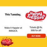 Happy Tuesday Offers at Adlabs IMAGICA Tickets @ Rs.999 for All Inclusive