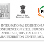 India Steel 2015 Mumbai – 2nd International Exhibition for Steel Industry at Mumbai India