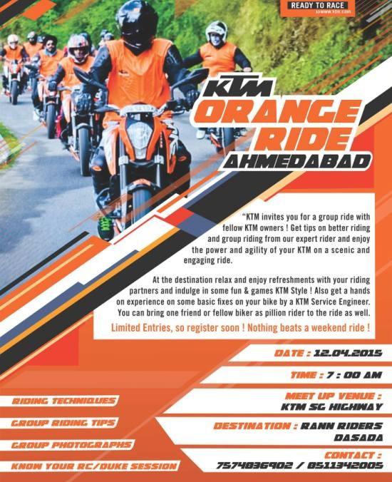 KTM Orange Ride at Ahmedabad