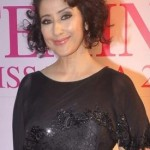 Manisha Koirala in FBB Femina Miss India 2015 Awards – Photos in Black One Piece Fishtail Gown