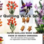 Paper Quilling Workshop in Vadodara – Krystal kraft Paper Quelling Art Work at Baroda