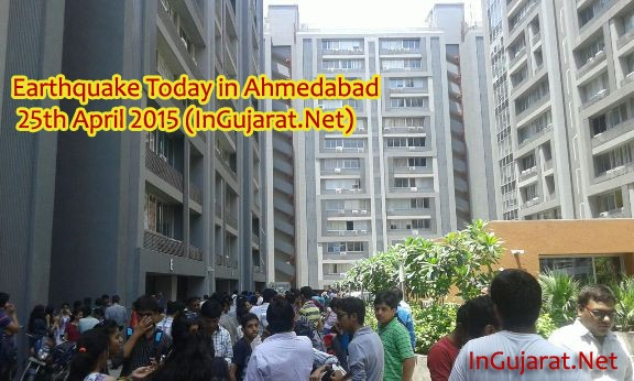 Photos Images of Earthquake Today in Ahmedabad 25th April 2015 copy