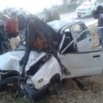 Very Hard Accident between CAR Maruti 800 and Animal Cow on Road/Highway