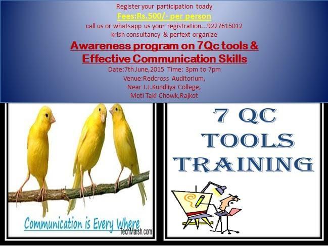 7Qc Tools & Effective Communication Skills Awareness Program in Rajkot at Redcross Auditorium