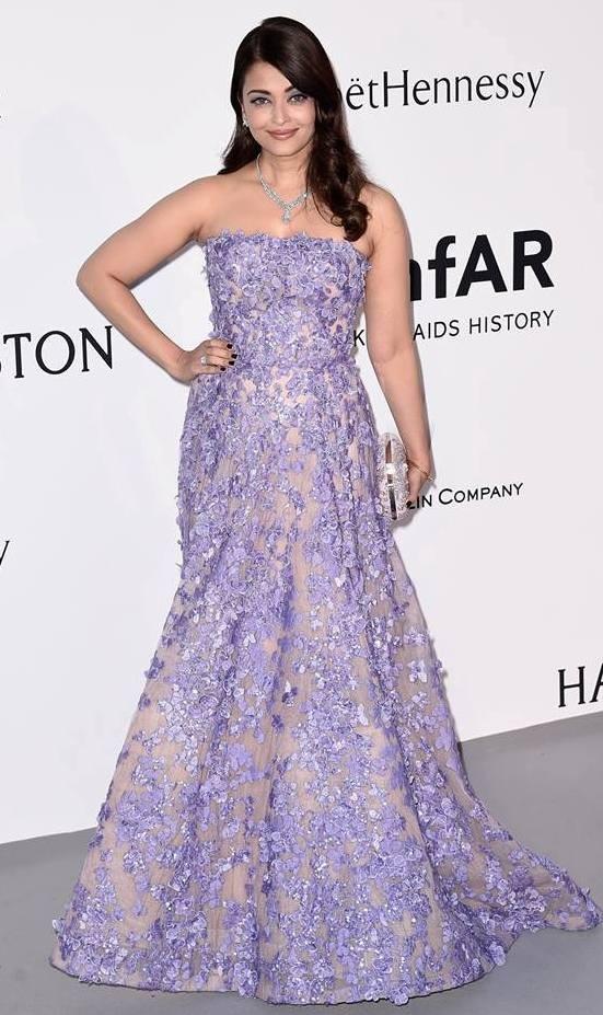 Aishwarya Rai in  Gown at The amfAR Gala in Cannes 2015