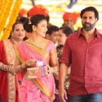 Bollywood Actress Shruti Haasan in Nauvari Saree Style Photos of Gabbar Is Back Movie