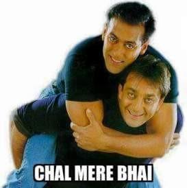 Chal Mere Yaar Salman Khan saying to Sanjay Dutt