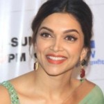 Deepika Padukone in Green Saree at DID Supermom Sets for Promoting PIKU Hindi Movie
