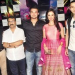 Evelyn Sharma in Pink Anarkali Dress during Ishqedarriyaan Movie Poster Launch